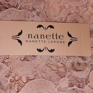 Nanette Lepore Tops - Nanette Lepore Sheer Pink Lace Bow Top S